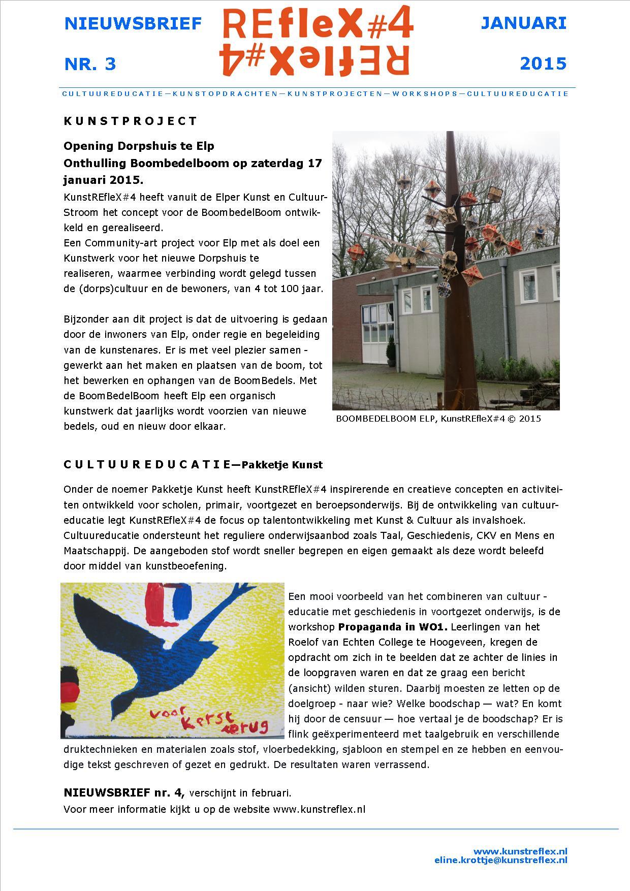 Nieuwsbrief KunstREfleX#4, nr 3