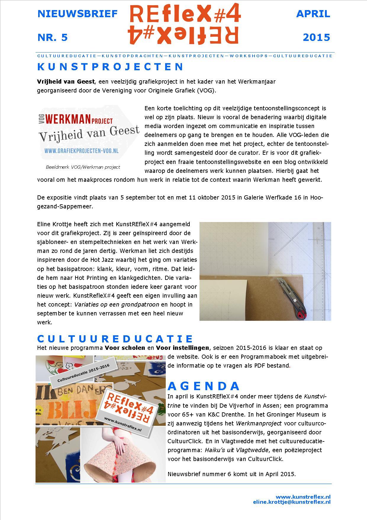 nieuwsbrief KunstREfleX#4, nr 5