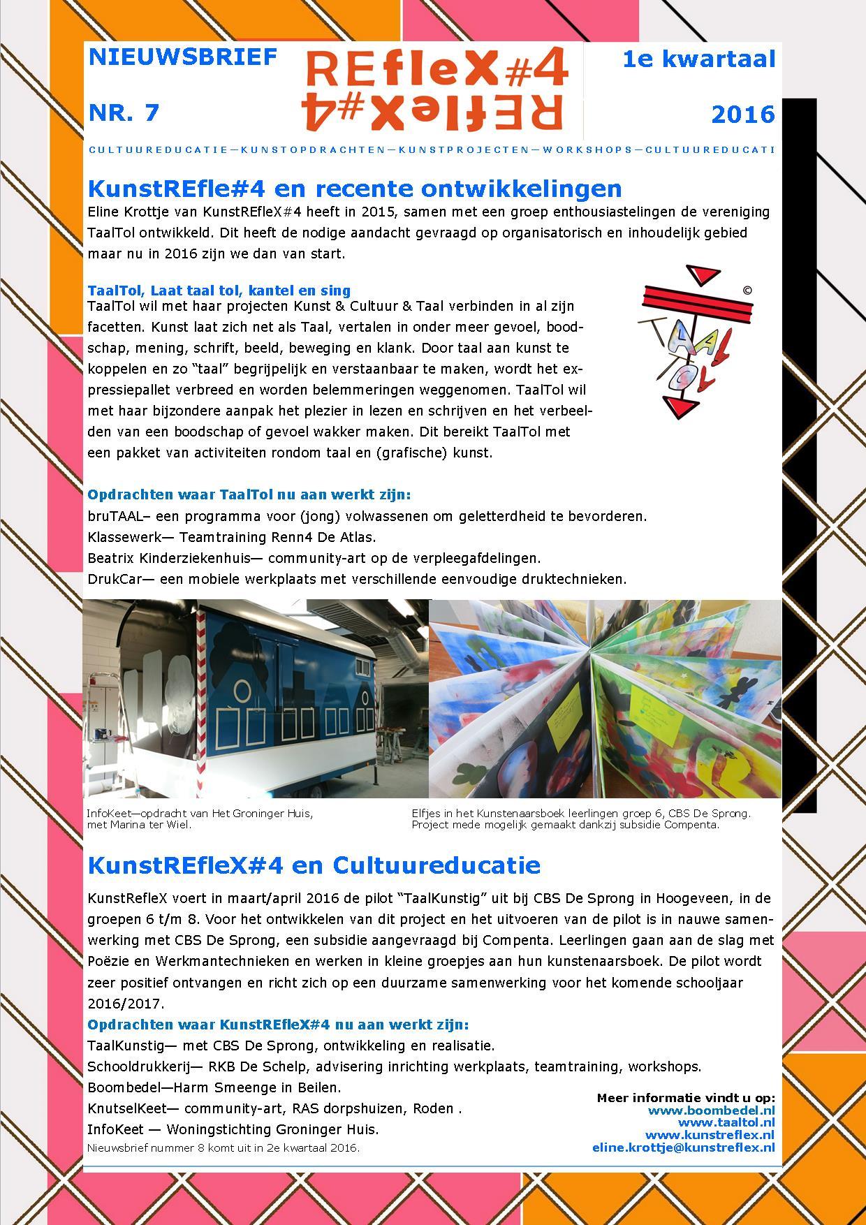 nieuwsbrief KunstREfleX#4, nr 7